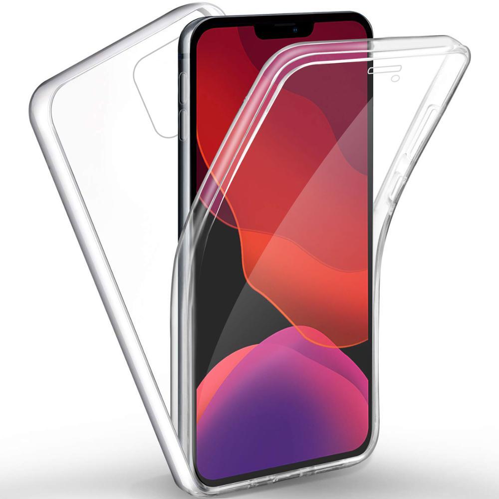Чехол с полным покрытием 360 градусов для iPhone 12, 11 Pro Max, 8, 7, 6 Plus, 5, двухсторонний силиконовый прозрачный чехол из ТПУ для iPhone X, XR, XS Max, чехол