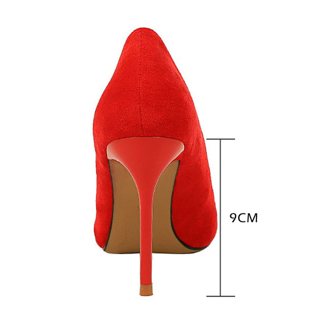 Fashion Women Pumps Women Shoes High Heels Classic Pumps Suede Wedding Shoes Pointed Sexy Female Heel Ladies Shoes Women Heels