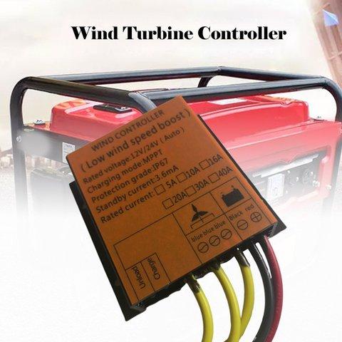 400 w controlador de turbina eolica 12v24v a prova dwaterproof agua mppt retificador freio carregamento