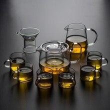 цена на Uniho 5Pcs Tea Pot Sets Glass Strainer Puer Tea Kettle High Temperature Resistant Flower Tea Black Tea Pots Office Coffee Maker