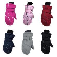 Детские спортивные зимние перчатки для улицы, теплые ветрозащитные противоскользящие зимние варежки