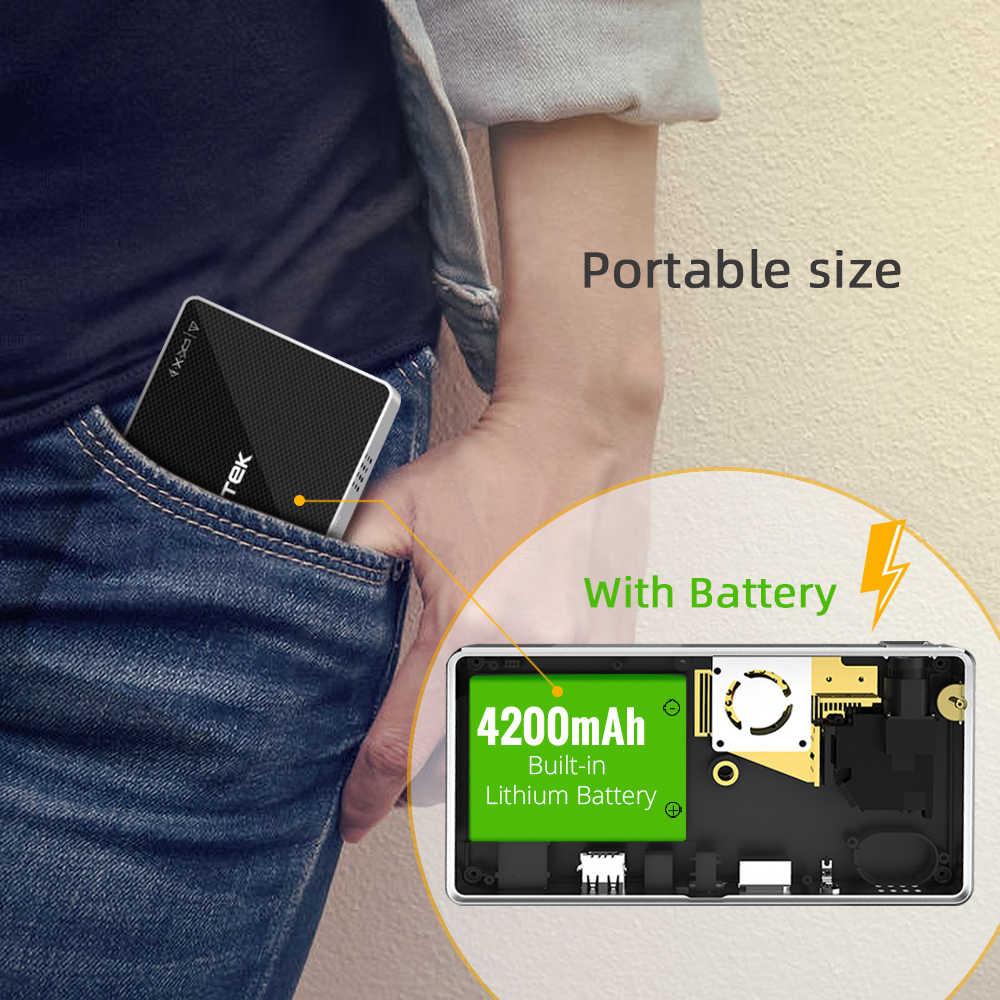 BYINTEK מיני מקרן P10, חכם Wifi כיס פיקו נייד Beamer, LED DLP לייזר נייד מקרן עבור Smartphone 4K 3D קולנוע
