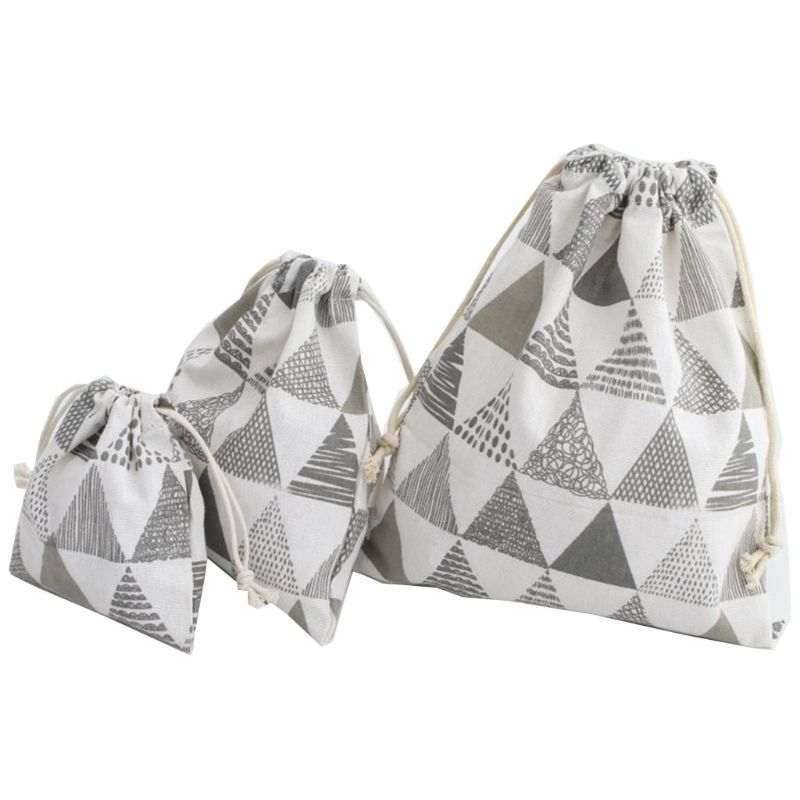 Drawstring Storage Bags Pouch Packing Gift Bag Organizer With Pull String F42A