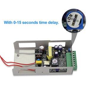 Image 4 - Sistema de controle de acesso de metal 5a, interruptor de fonte de alimentação dc12v/3a AC90V 260V entrada no/nc atraso de tempo para todos tipos fechadura eletrônica k80