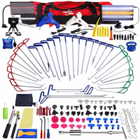 PDR Tools New Quality Hooks Rods Paintless Dent Removal Car Repair Kit PDR Hook Rod Crowbar Auto Tools Door Dent Hail Removal