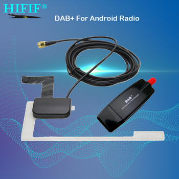 USB 2.0 Digital DAB + Radio Tuner Receiver Stick For Android Car DVD Player Autoradio Stereo USB DAB Android Radio Car Radio image