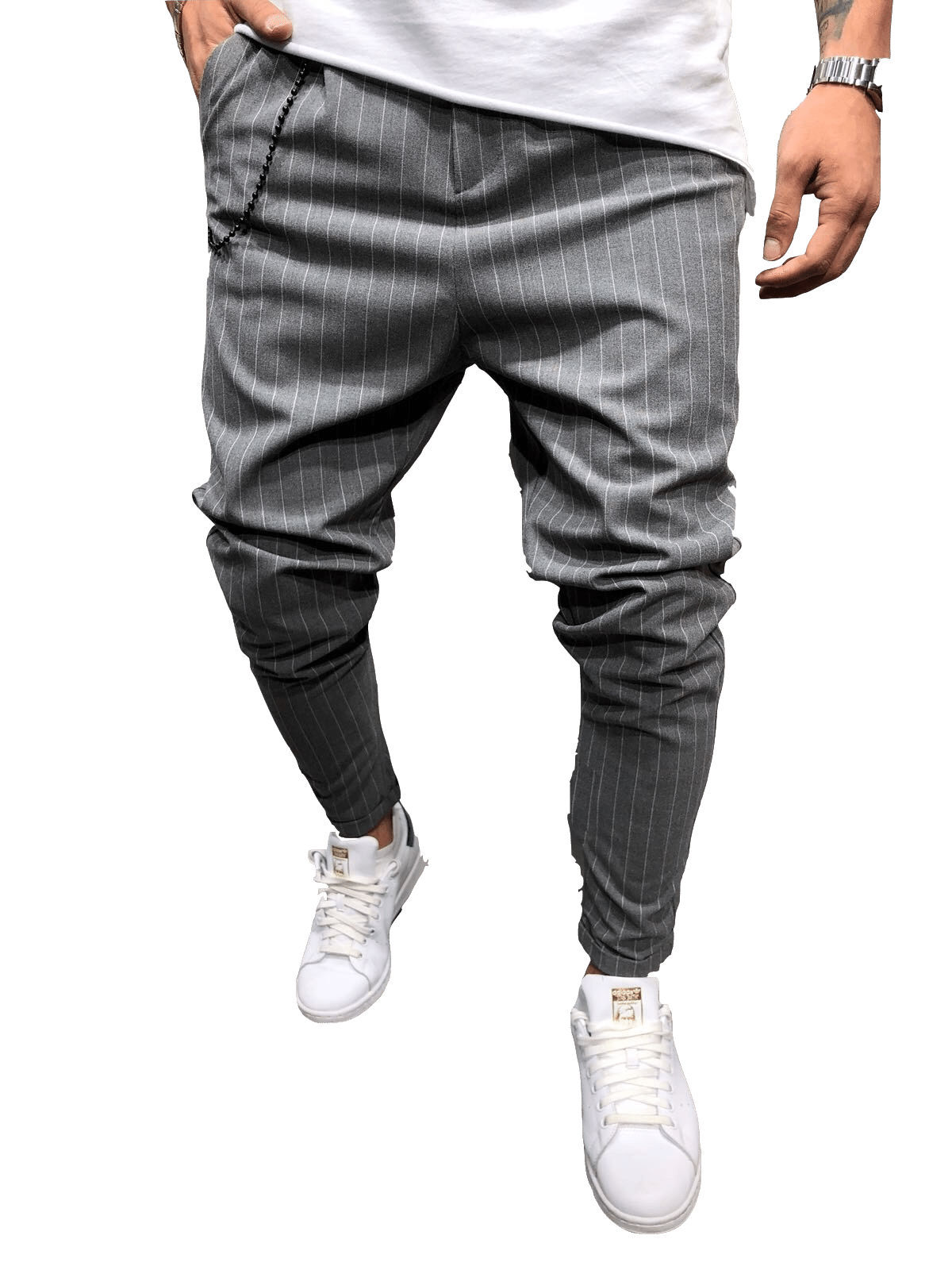 H818dfe43dc814dae98a778c8720f91f0X Spring Autumn Casual Men Sweat Pants Male Sportswear Casual Trousers Straight Pants Hip Hop High Street Trousers Pants Joggers