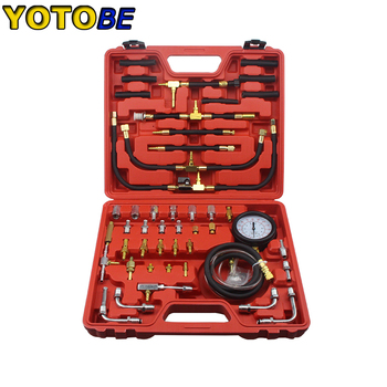 TU-443 Deluxe Manometer Fuel Pressure Gauge Engine Testing Kit Fuel Injection Pump Tester oil injection fuel vro pump kit for johnson evinrude omc brp 4 wire 5007420