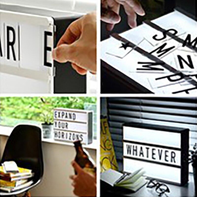 Купить 126 шт кинематографический светодиодный лайтбокс сменные буквы