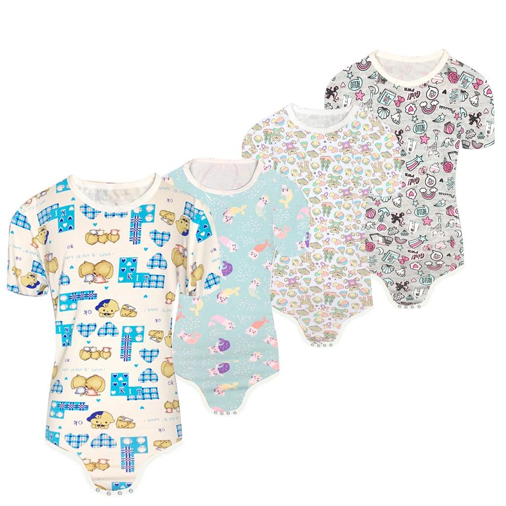 DADY Dom Little Girl Onesie ABDL Bodysuit Snap Crotch Diaper Onesie Adult Diaper Shirt