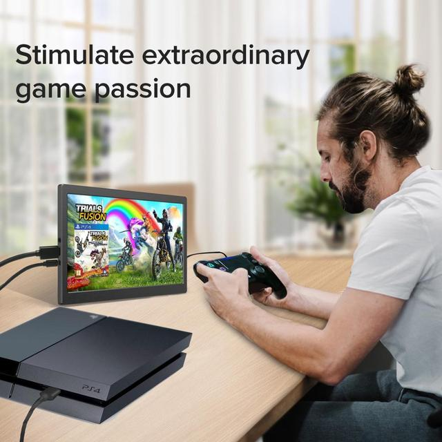 Eviciv Dual Screen Laptop 7 Inch PC Computer Second Monitor IPS 60Hz Portable Display for Switch Xbox PS4 Game Console HDMI USB 5