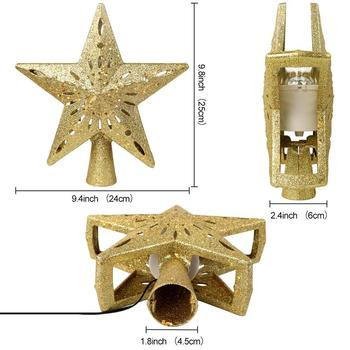 Projection Star Christmas Tree Topper 4