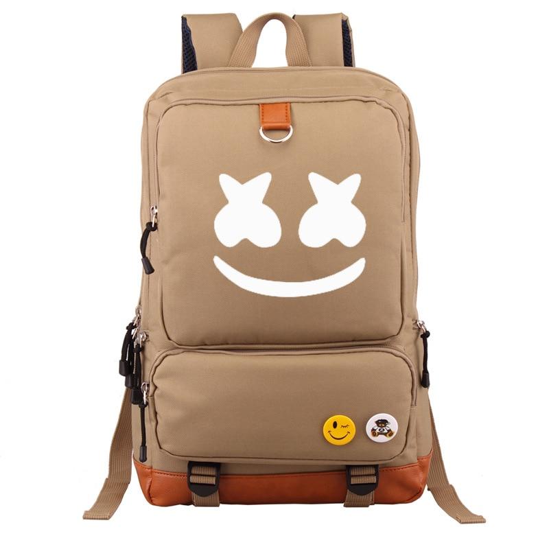Marshmello Backpack School-Bag Music Electronic Cotton Shoulder-Backpack-Cross-Border