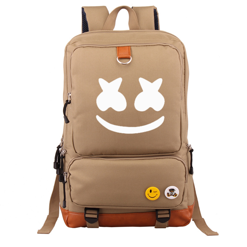 Electronic Music Marshmello Backpack Cotton Candy School Bag Shoulder Backpack Cross-border For A Generation Of Fat Wholesale Or