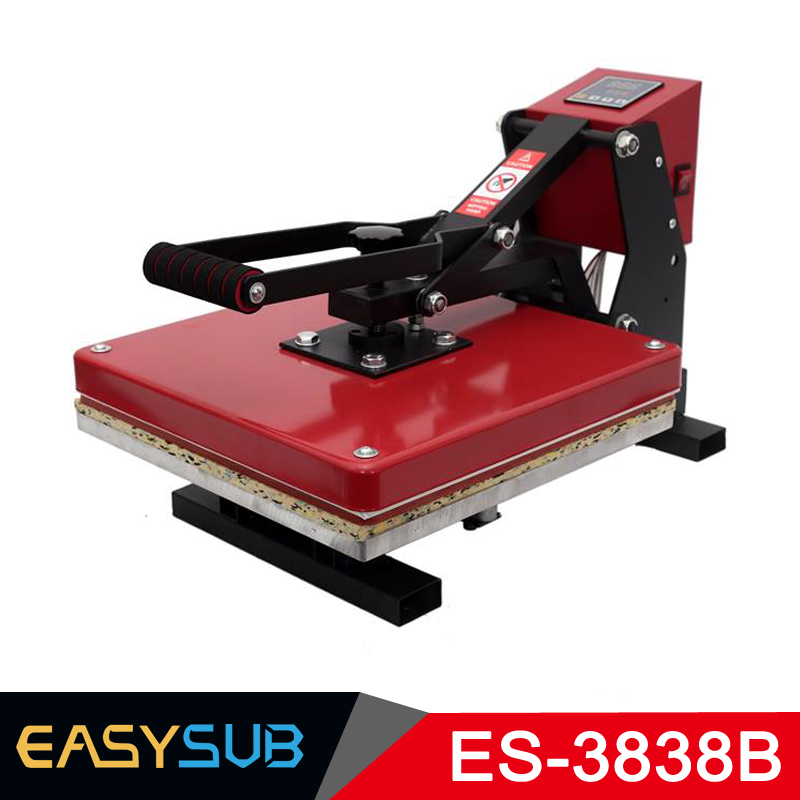 38x38CM haute pression presse à chaud Machine T-shirt Machine d'impression Sublimation imprimante coque de téléphone Puzzle tapis de souris verre roche