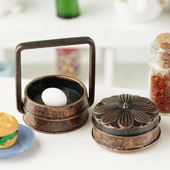 1:12 DIY Doll House Accessories Mini Retro Rice Basket Toy Decor Model Kitchen Scene For Dollhouse Simulation Dollhouse Orn O5T4 image