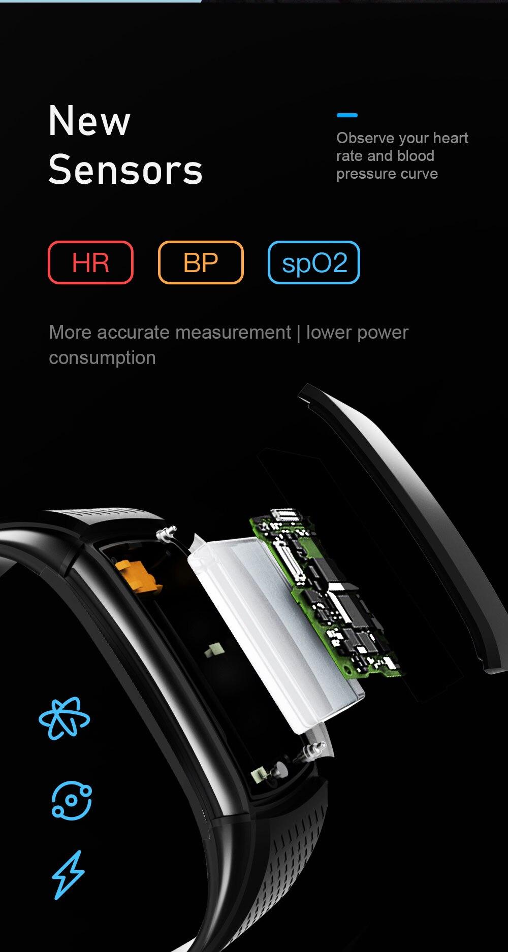 H818eb5b3ccff4cca881056b82f9b0a82L Smart Fitness Bracelet Blood Pressure Measurement Fitness Tracker Waterproof Smart Band Watch Heart Rate Tracker For Women Men
