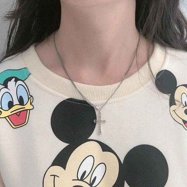 Фото женское винтажное ожерелье из серебра 925 пробы с подвеской