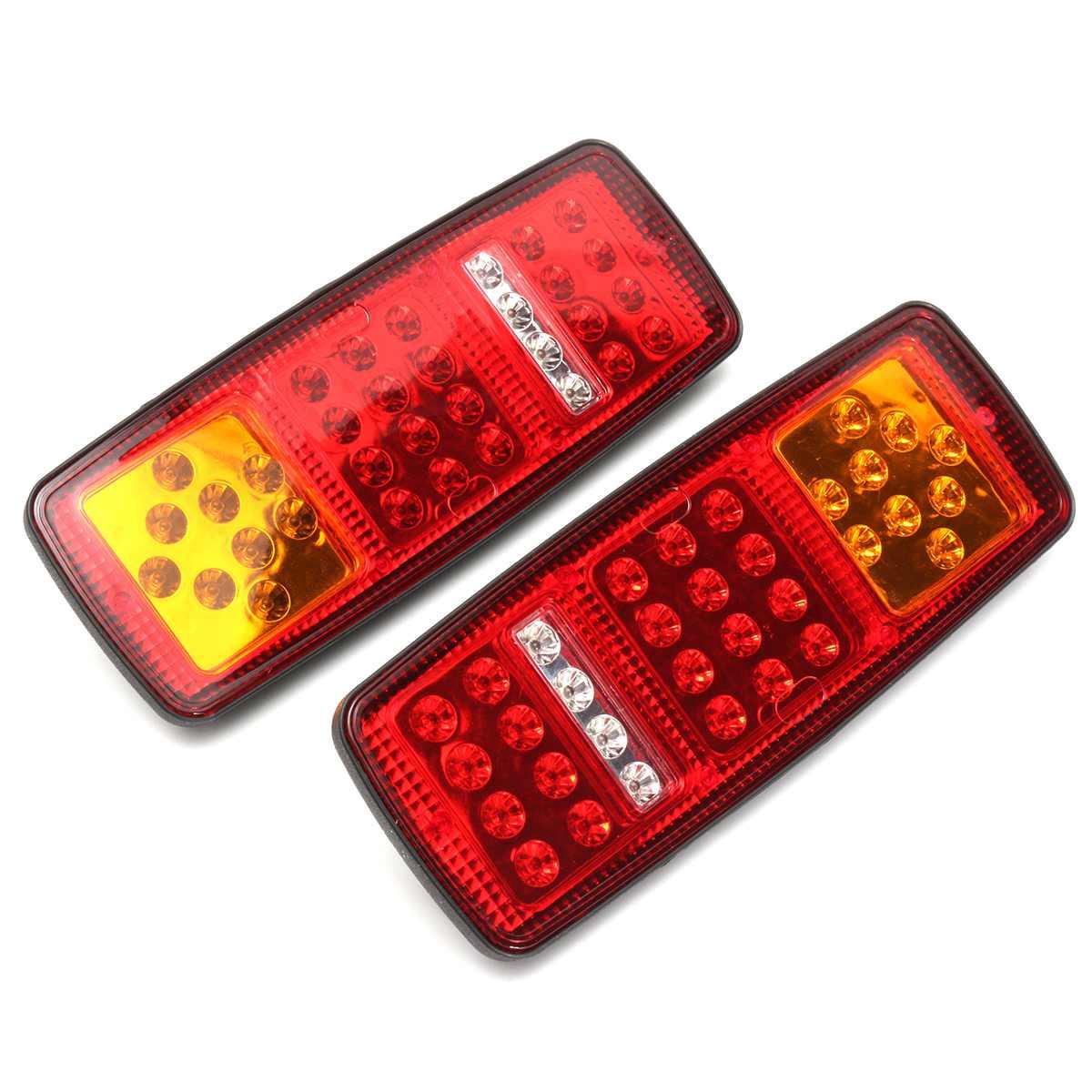 Задний стоп-сигнал, стоп-сигнал, для автобусов, фургонов, 33 светодиода, 2 шт.