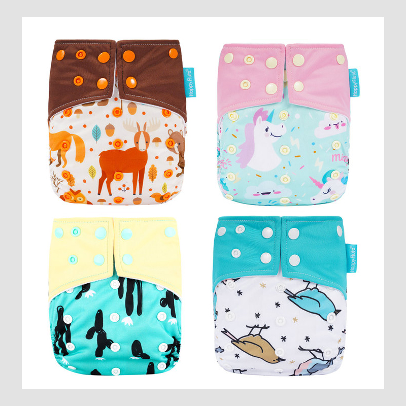 Adjustable Washable Eco-Friendly Cloth Diaper Cover Nappy Reusable Cloth Diapers Cloth Nappy fit 3-15kg baby