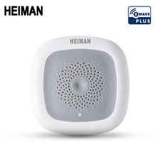 HEIMAN smart Zwave Temperature & Humidity sensor home thermometer Z wave heat detector EU 868MHz fire alarm grohe rainshower f series 26060000 набор верхний душ с душевым кронштейном 286 мм