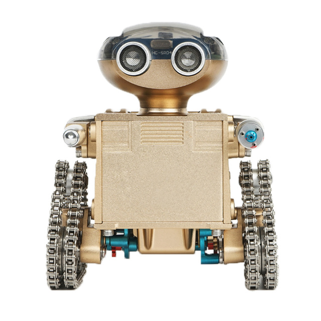 DIY  Metal Intelligent Remote Control Smart Robot Assembling Educational Model Building Toy Birthday Gift for Boy Over 10