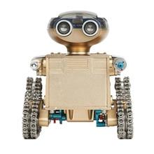 DIY מתכת אינטליגנטי שלט רחוק חכם רובוט חינוכיים הרכבה דגם בניין צעצוע מתנת יום הולדת לילד מעל 10