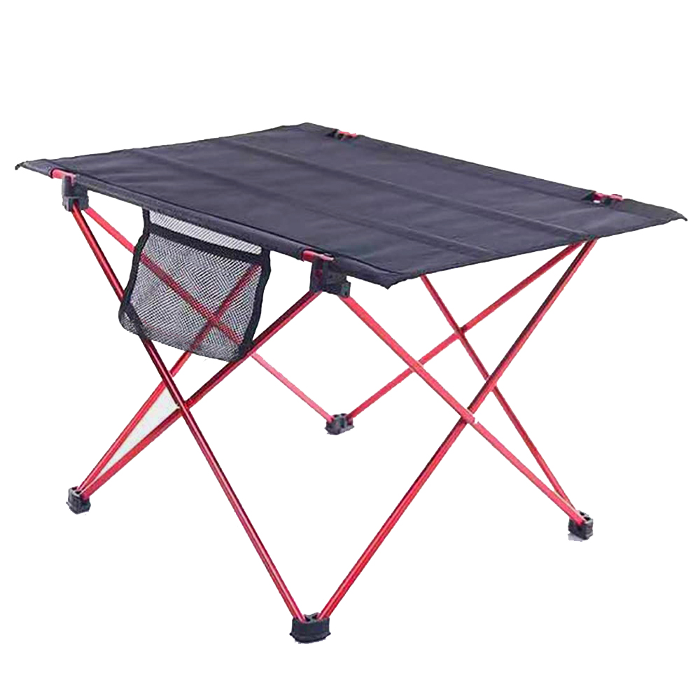 HooRu Foldable Roll-up Table Beach Fishing Portable Folding Table Backpacking Lightweight Camping Outdoor Desk With Carry Bag