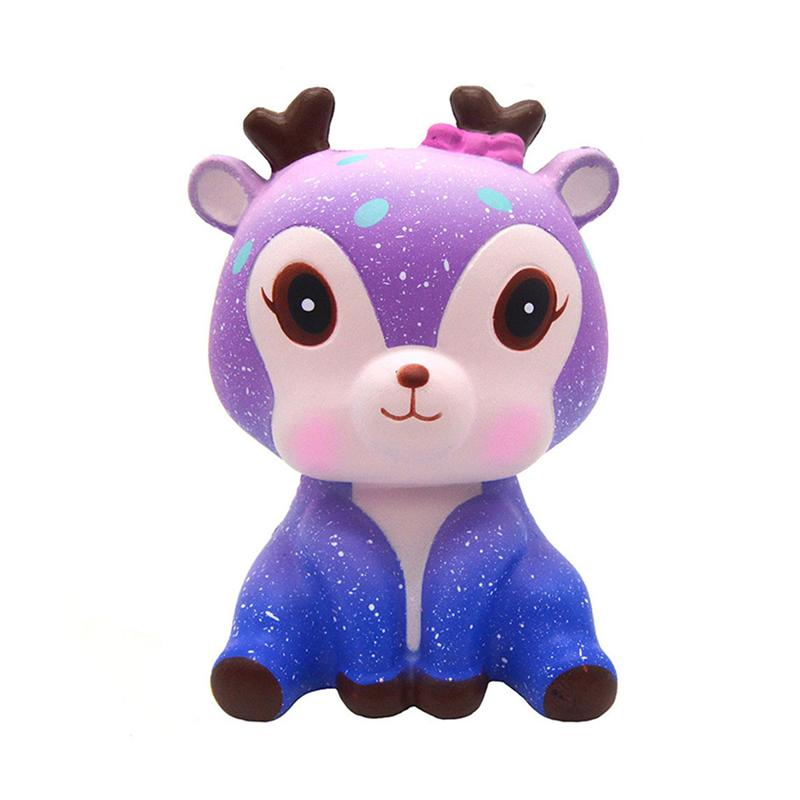 Squeezing Toys Cute Small Deer Slow Rising Squeezing Toys Stress Relieve For Adult Children 11.5 X 8 X 6.5CM