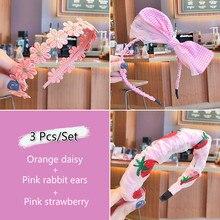 3 Pcs Summer Children Cute Candy Fresh Fruit Star Bow Ornament Hair Clips Headbands Girls Lovely Hairbands Kids Hair Accessories