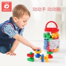 Детские развивающие Игрушки для раннего образования, пластиковые винты для сопряжения, гайки, строительные блоки, комбинированная сборка, детская игра