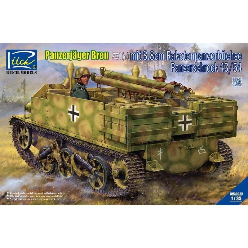 RIICH MODELS RV35035 1//35 Panzerjager Bren 731 mit 8.8cm  Panzerschreck 43//54