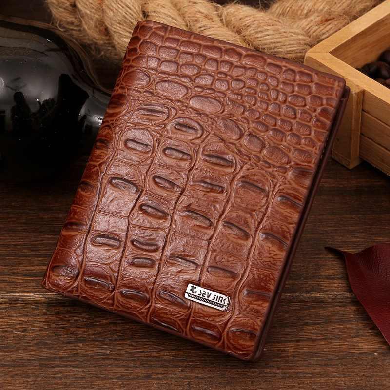 Кожаный чехол-кошелек с Для мужчин кошельки известного бренда для Для мужчин монета с денежной сумкой кошельки