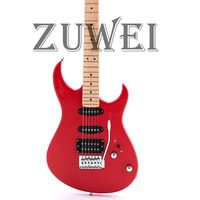 Custom AST Style Electric Guitar Red Color Tremolo Bridge Light Body