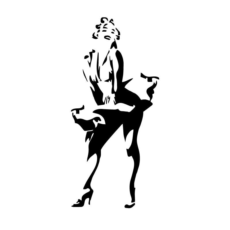 Sexy Marilyn Monroe Sticker High Quality Car Window Decoration Personality Pvc Waterproof Decal Black/white, 16cm*8cm