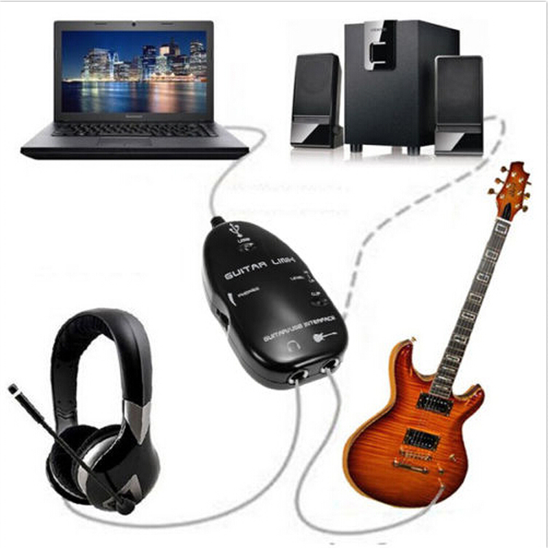 Electric Guitar Cable Audio USB Link Interface Adapter For MAC/PC Music Recording Accessories for Guitar players