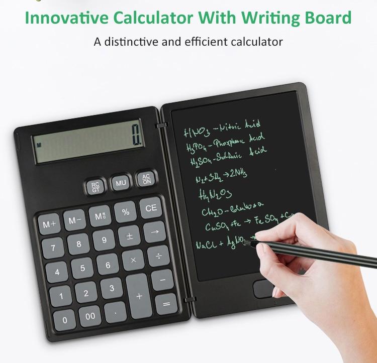 Smart tablet calculator notepad notebook  innovative writing board office  portable  stylish calculadora калькулятор мини