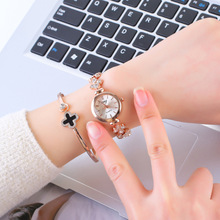 Women's Fashion Diamond Set Clover Watch Strap Watch Cute Spring And Summer Hot Selling Bracelet Watch Fashion Watch Women's
