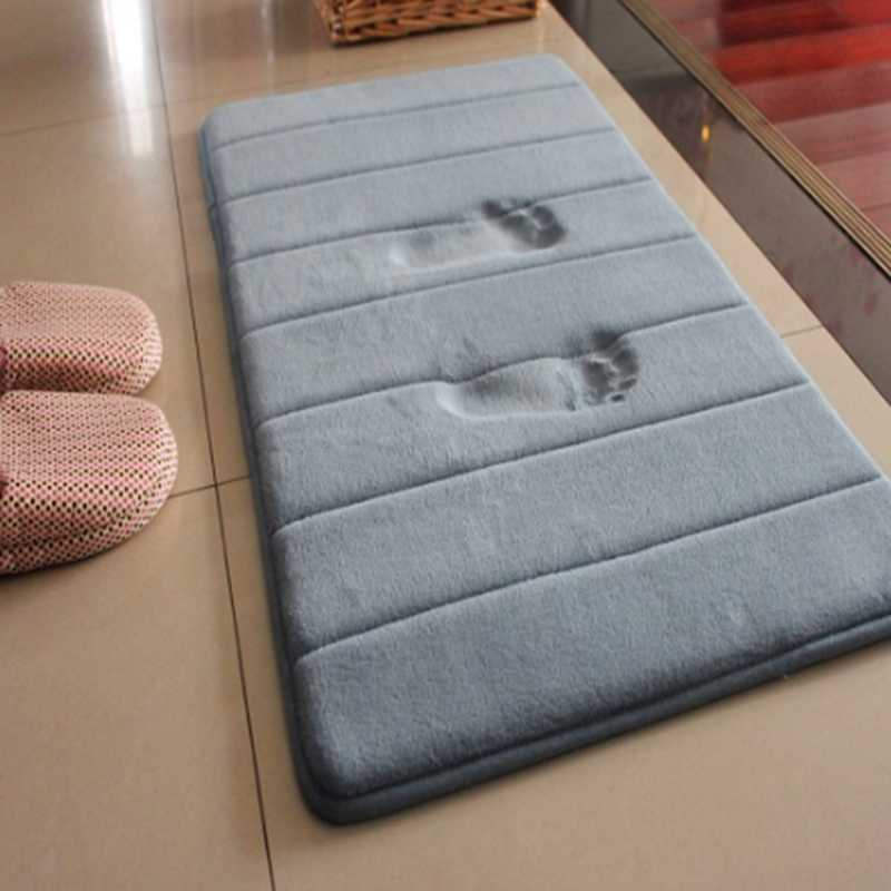1PC Water Absorption Bathroom Mat Toilet Non-slip Rug Soft Kitchen Door Floor Mat Carpet tapis de bain 40*60cm/50*80cm