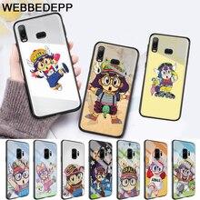 Anime Dr. Slump Arale Little Girl Glass Case for Samsung S7 Edge S8 S9 S10 Plus A10 A20 A30 A40 A50 A60 A70 Note 8 9 10