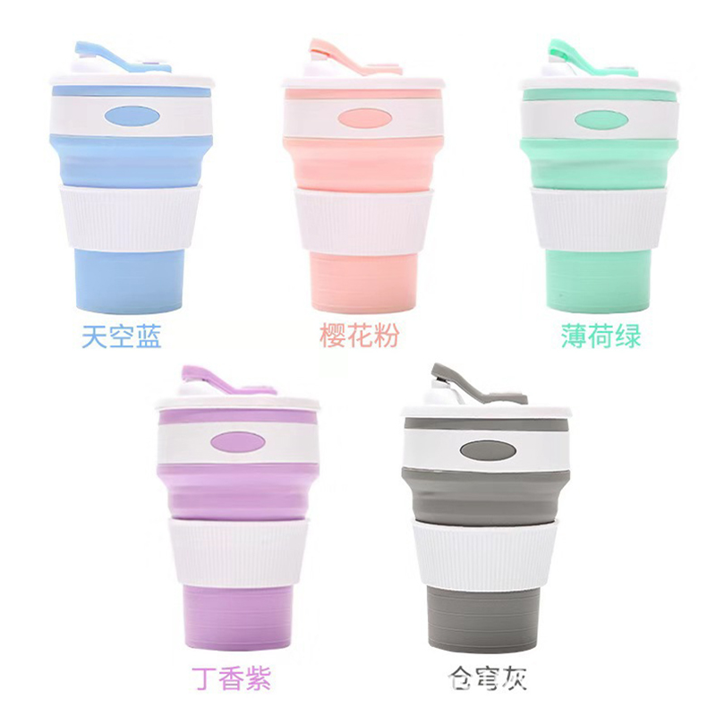350ml Folding Silicone Cup Portable Silicone Telescopic Drinking Collapsible Coffee Cup Multifunction Foldable Silica Mug Travel