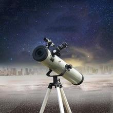 76700 отражающий астрономический телескоп, масштабируемый монокулярный телескоп с легированным штативом для наблюдения за космическими планетами, низкий уровень освещения, ночное видение, Звездный вид