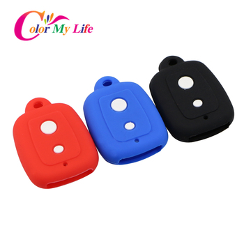 2 Buttons Silicone Car Key Cover Case Set Protection Skin Shell Bag Fit for PERODUA Alza Viva Myvi Remote Key Holder image