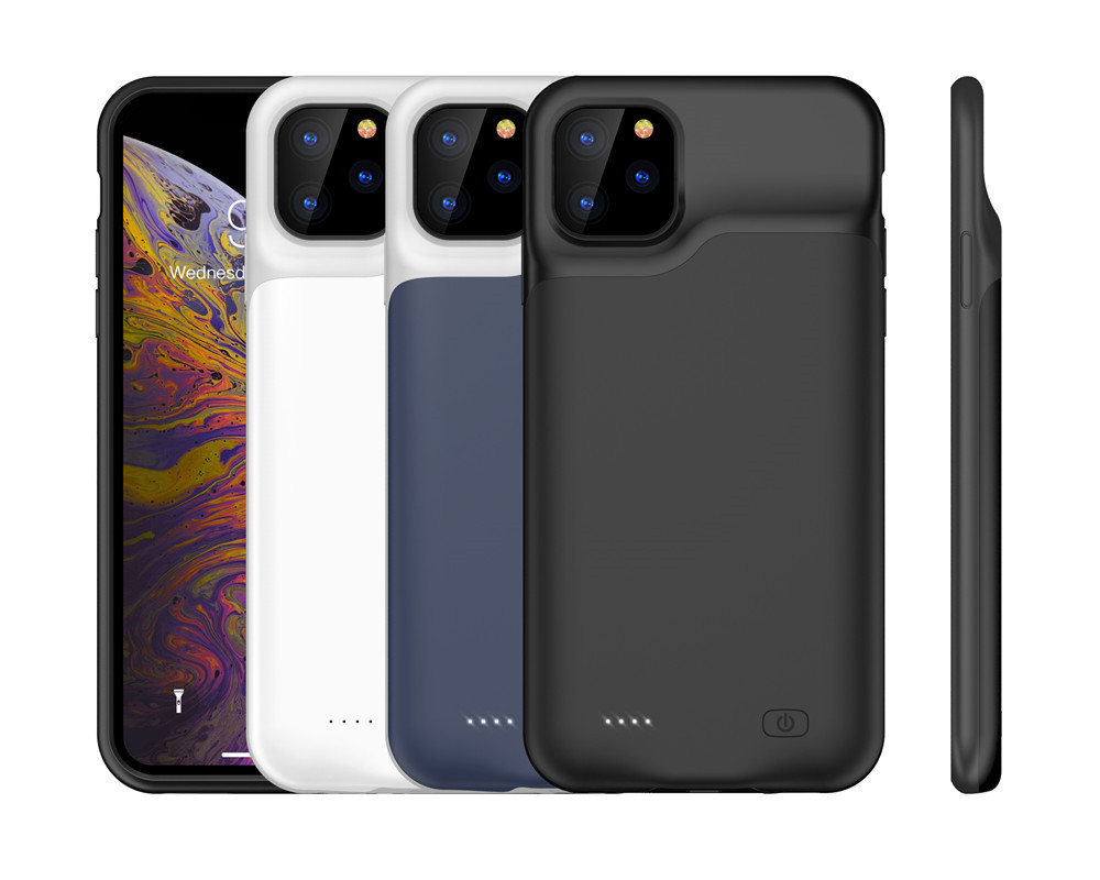 IPhone 11 Pro Max Slim Silicone Shockproof Battery Charger Cases  Power Bank Case External Pack Power Case