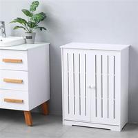 Double Door Three Layer 80cm High Storage Cabinet for Home Living Room Decoration 63x31x80 cm