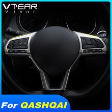 Vlarme pour Nissan Qashqai J11 Dualis 2 x-trail intérieur moulures accessoires volant couverture garniture ABS décoration pièces 2019 2020