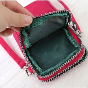 Image 5 - mobile phone bag 6 inch womens messenger bag zipper print bag fashion shoulder bag