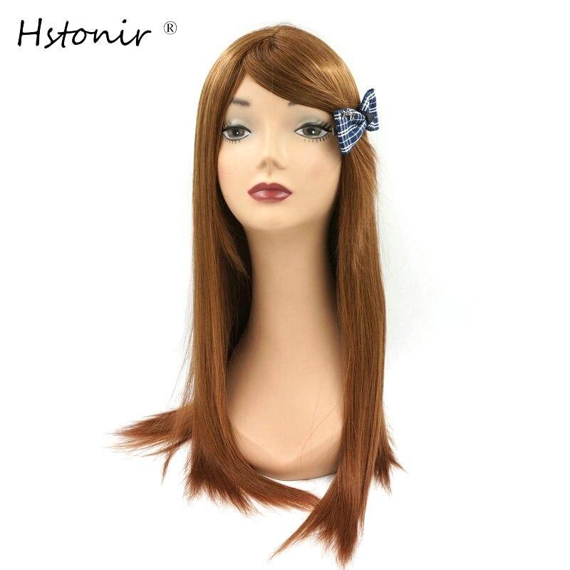 Hstonir Jewish Kosher Wig European Human Remy Hair Silk Top 30# Bob Sheitel Wigh Bang Customized Order