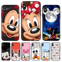 Minnie Mouse Black Cover Phone Case For Huawei Mate 30 20 10 P30 P20 P10 Pro Lite P Smart Z 2019 Luxury Coque Shell