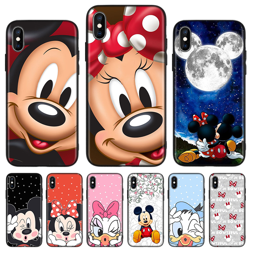 Minnie Mouse Black Cover Phone <font><b>Case</b></font> For <font><b>Huawei</b></font> Mate 30 20 10 P30 P20 <font><b>P10</b></font> Pro Lite P Smart Z 2019 Luxury Coque Shell image